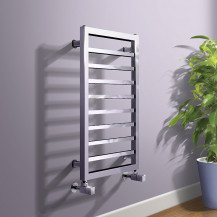 Julian 700 x 450mm Square Chrome Heated Towel Rail