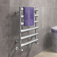 Felicity 700 x 500mm Straight Chrome Heated Towel Rail