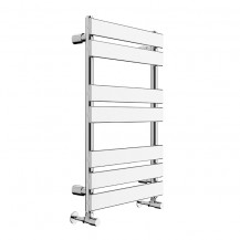 Juliet 800 x 500mm Flat Chrome Heated Towel Rail