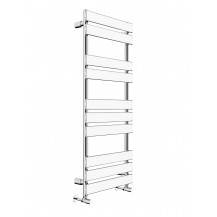Juliet 1200 x 500mm Flat Chrome Heated Towel Rail