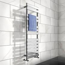 Juliet 1422 x 500mm Flat Chrome Heated Towel Rail