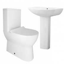 Indiana Close Coupled Toilet & Revive Full Pedestal Two Piece Suite
