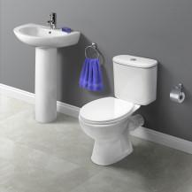 Venice Close Coupled Toilet & Cova Full Pedestal Two Piece Suite