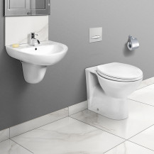 Sofia Back to Wall Toilet & Paris Semi Pedestal Two Piece Suite
