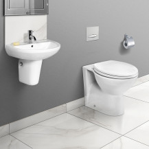 Sofia Back to Wall Toilet & Micro Semi Pedestal Two Piece Suite