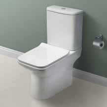 Milan Close Coupled Toilet and Seat with Pan Connector