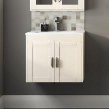 Nottingham Ivory 600 Two Door Wall Hung Vanity Unit