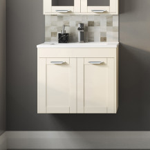 Nottingham Ivory 600 Two Door Wall Hung Vanity Unit