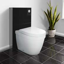 Black Floor Standing WC Unit with Aurora Back to Wall Toilet