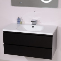 Barcelona 900 Black Vanity Unit