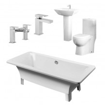 1700 Athena Veneto Bathroom Suite with Taps