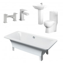 Athena Veneto Bathroom Suite with Taps