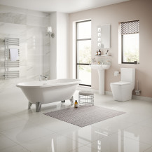 Voss 1650 Freestanding Bathroom Suite with Taps and Wastes