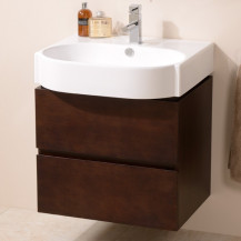 Madrid 600mm Walnut Vanity Unit