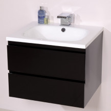 Barcelona 600 Black Vanity Unit