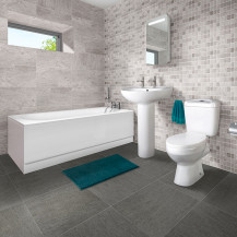 1600 Allendale Sydney Bath Suite with Taps and Waste