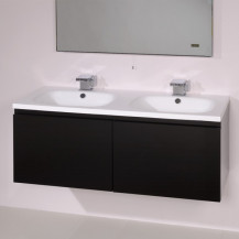 Barcelona 1200 Black Vanity Unit