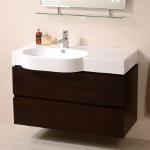 Madrid 1000mm Walnut Vanity Unit