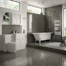 Nottingham White Freestanding Bath Complete Suite