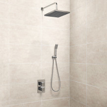 EcoCube Dual Valve with Diverter, 200mm Shower Head and Handset Kit