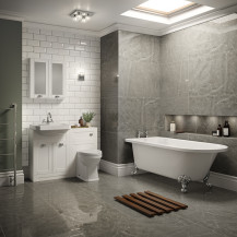 Nottingham White Park Royal Left Hand Freestanding Bath Suite