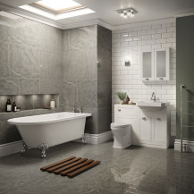 Nottingham White Park Royal Right Hand Freestanding Bath Suite