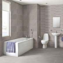 1600 Mono Cova Bath Suite with Taps and Waste