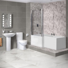 1700 Veneto Left Hand Square Shower Bath Suite