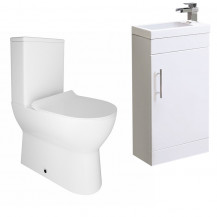 Aspen™ 41cm Vanity Unit with Indiana Short Projection Toilet and Seat