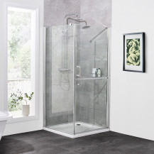 900 x 900 Twin Door Hinged Shower Enclosure