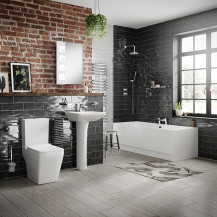 Voss Straight Bath Bathroom Suite