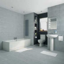 Voss Dee Straight Bath Bathroom Suite