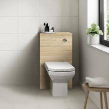 Ashford Natural Oak WC Unit with Tabor Back to Wall Toilet