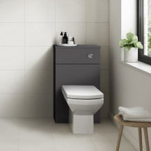Ashford Grey Gloss WC Unit with Tabor Back to Wall Toilet