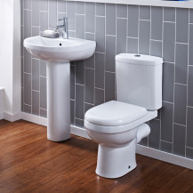 Albury One Tap Short Projection Bathroom Suite
