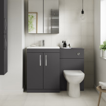 Ashford Grey Gloss Combination Unit with Santorini Toilet