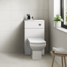 Ashford White Gloss WC Unit with Tabor Back to Wall Toilet