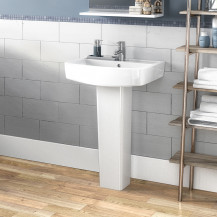 Madison 520mm One Tap Basin and Pedestal