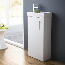 Ashford Cloakroom 400 White Vanity Unit