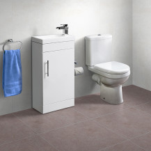 Aspen™ 41cm Vanity Unit with Albury Short Projection Toilet and Seat