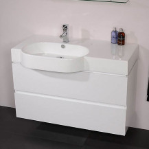 Madrid 1000mm White Vanity Unit
