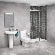 Aquafloe™ Elite ll 8mm 1200 Frameless Sliding Door & Tray with Madison Suite