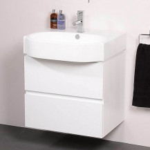 Madrid 600mm White Vanity Unit