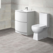 Voss™ 620 Floor Mounted Vanity Drawer Unit with Salou Close Coupled Toilet