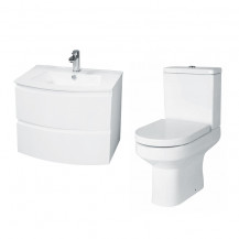 Voss™ 620 Wall Mounted Drawer Vanity Unit with Maine Toilet and Seat