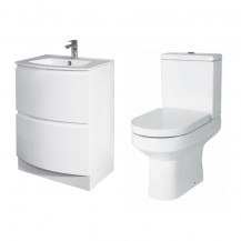 Voss™ 620 Floor Mounted Drawer Vanity Unit with Maine Toilet and Seat