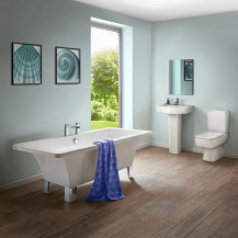 Athena 1600 x 750 Freestanding Bath with Madison Suite