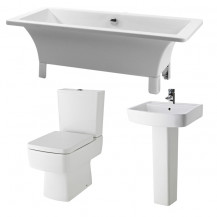 Athena 1600 x 750 Freestanding Bath with Madison Suite