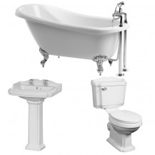 1570 x 705 Park Royal™ Slipper Bath with Victoriana Suite