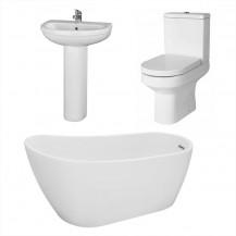 Design 1520 x 720 Slipper Bath with Maine Suite